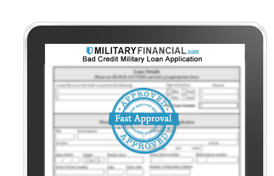 Bad credit military loan